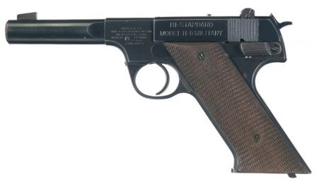 High Standard Model H-D Military target / training pistol, which served as a base for productional / issue HDM / OSS silenced pistols