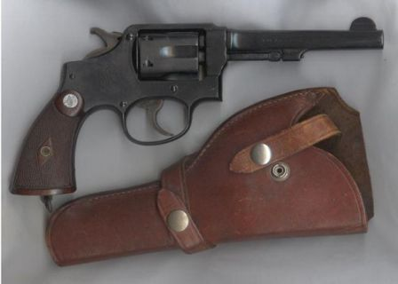 S&W Military and Police revolver with 5 inch barrel - circa 1941