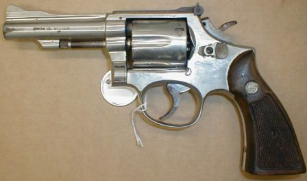 S&W Combat Masterpiece Model 15 revolver with 4 inch barrel