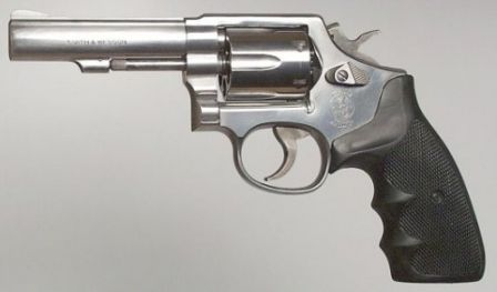 S&W Model 64 .38Spl - stainless steel version of the Model 10HB (Model 65 in .357Magnum looks almost the same)