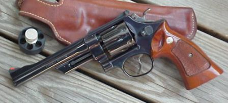 S&W model 27, classic N-frame revolver in .357 magnum