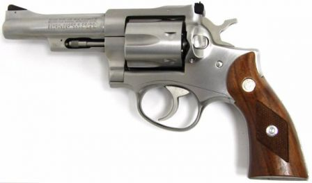 Ruger Security Six revolver, caliber .357 Magnum, stainless steel model