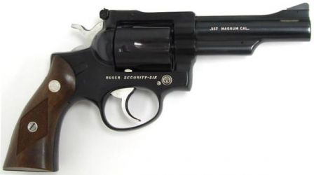 Ruger Security Six revolver, caliber .357 Magnum, carbon steel model