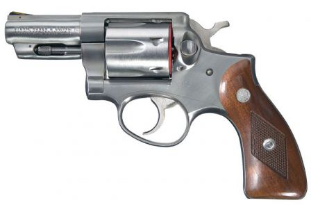 "Ruger GS32-N military model revolver, a stainless-steel version of the ""Speed Six"" revolver"