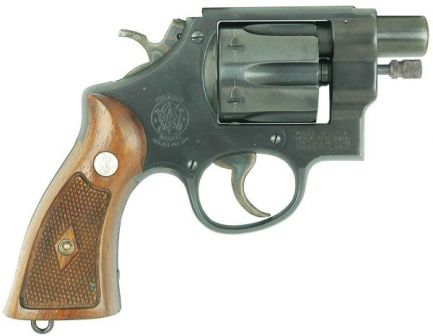 Smith & Wesson Model 29 revolver modified by AAI corporation into Quiet Special Purpose Revolver (QSPR) Image is a photoshopped modification of the original S&W M29 revolver photo to closely represent extremely rare QSPR weapon,