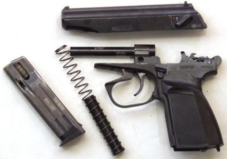 """Пистолет травматический Иж-79-9Т """"Макарыч"""" с 10-зарядным магазином, неполная разборка"""