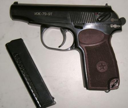"""Пистолет травматический Иж-79-9Т """"Макарыч"""" с 8-зарядным магазином, выпуск 2004 года"""