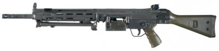 7,62x51 mm HK 21 machine gun,original version.
