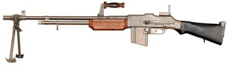 Browning BAR M1918A2, the final and most popular version. Often was used withbipod removed.