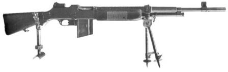 Browning BAR M1922 - the light machine gun for US Cavalry.