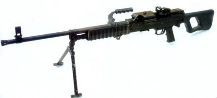 Type 88 (QJY 88) GPMG on integral bipod, in light machine gun role.