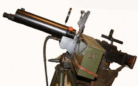 Swedish-made 8x63 licensed version of the Browning water-cooled machine gun, theKsp-36, in AA modification.
