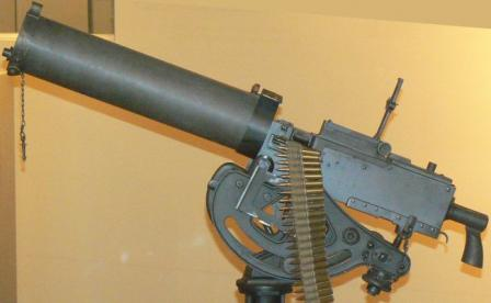 Browning M1917A1 machinegun, left side.