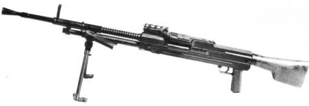 Madsen-Saetter machine gun in light configuration.