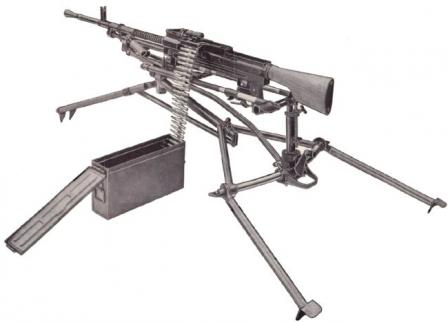 Madsen-Saetter machine gun in mdeium configuration.