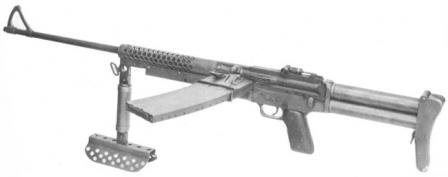 Johnson M1944 light machine gun.