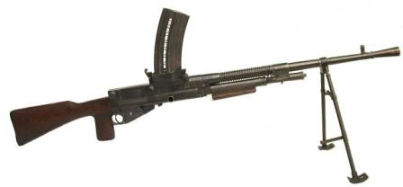 Hotchkiss M1922 light machine gun, magazine-fed version (this one was used in Spain in caliber 7x57 Mauser).