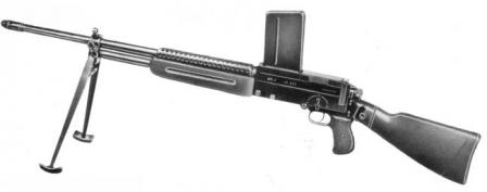 .30-06 (7.62x63mm) caliber Mendoza RM2 light machine gun.