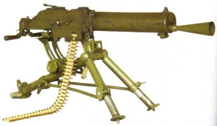 Schwarzlose M1907/24 (Vz.24) machine gun, interwar Czechoslovak conversion to 7.92x57 mauser caliber; note that it has longer barrel and jacket.