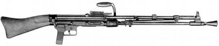 German Knorr-Bremse MG-35/36 light machine gun, caliber 7.92mm.