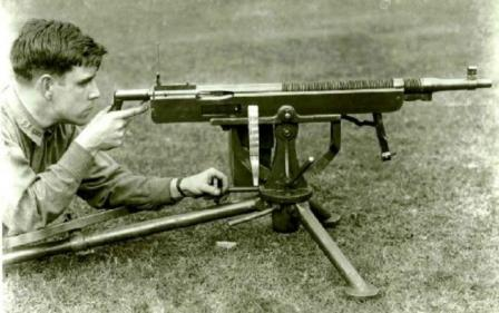 Marlin M1917 tank machine gun, based on the Colt Browning M1895 machinegun.