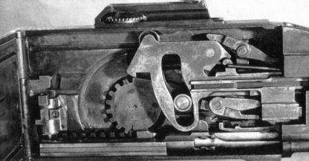 Saint-Etienne Model 1907 machine gun. Action open, bolt in the forward(locked) position.