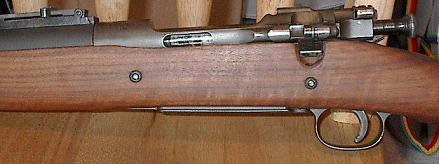 M1903 Mark 1 rifle, modified for Pedersen device. the cut in the receiver wall is for ejection of the Pedersen spent cases.
