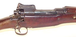 US .30 caliber M1917 rifle, close up view on the receiver.