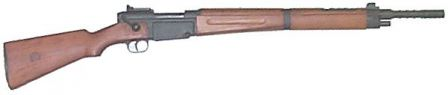 MAS 36/ 51 rifle, with muzzle grenade launcher.