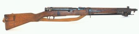 Arisaka Type 44 carbine, with integral folding bayonet and bolt cover installed.