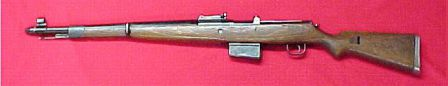 Gewehr 41(W) / G41(W) - the direct predecessor for the G43 / K43. Note large muzzle cup that covers the unsuccessful Bang-type gas system.
