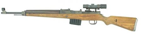 K43 sniper rifle with telescope sight.