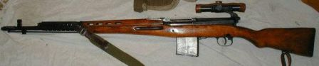 SVT-40, sniper version with see-through scope mount and WW2 period standard issue