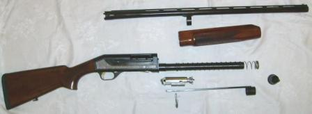 author's own Stoeger model 2000Deluxe shotguns, partially disassembled.