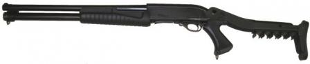 Hatsan Escort AimGuard shotgun, with top-folding butt.