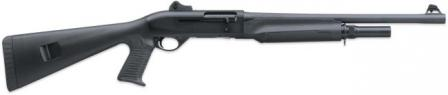 Benelli M2 Tactical shotgun with pistol-grip stock and extended magazine.