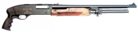 Bekas 12M shotgun with 535mm barrel and pistol grip, home defense version.