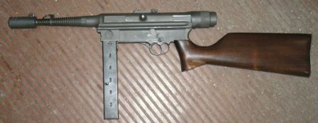 Halcon M/943 submachine gun.