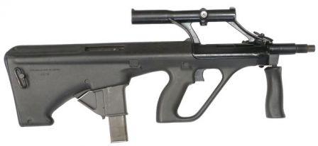 Steyr AUG A1 Para 9mm makineli tabanca, orijinal versiyonu.