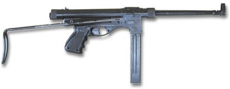 Vigneron M2 makineli tabanca, sağ taraf.