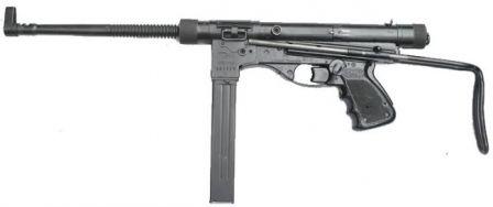 Vigneron M2 makineli tabanca, sol taraf.