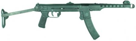Sudaev PPS-43 submachine gun.