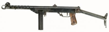 M44 Tikkakoski submachine gun with 20-round box magazine.
