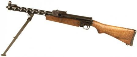 ZK-383 submachine gun,left side.