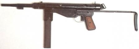 FBP m/948 submachine gun, with optional bayonet lug on the barrel.