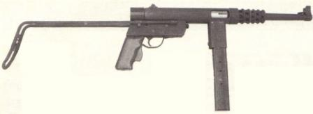 Gevarm D4 submachine gun.