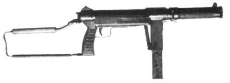 SCK-65 submachine gun. in ready to fire position.