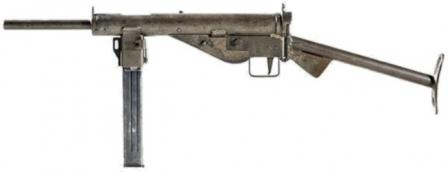 MP 3008 submachine gun, version with tubular butt.