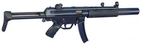 HK MP-5SD3. вариант с интегрированным глушителем.