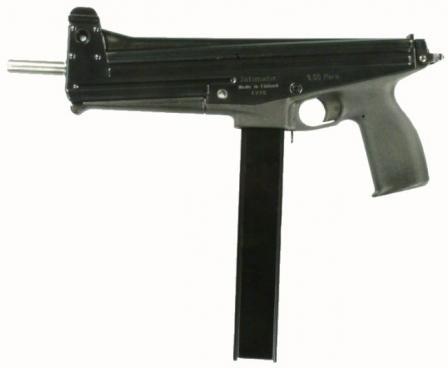 Jati-maticsubmachine gun.